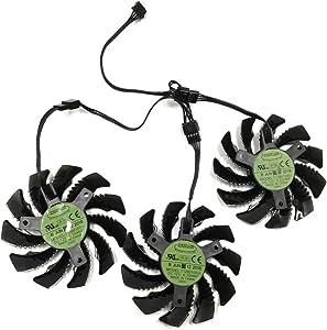 75MM T128010SU 0.35A Cooling Fan for Gigabyte AORUS GTX 1060 1070 1080 G1 GTX 1070Ti 1080Ti 960 970 980Ti Video Card Cooler Fan (A Set)