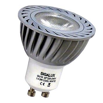 SIGALUX MR-45-WW-SMC - Bombilla LED (GU10, 3 W, blanco cálido 5 del paquete Cool White High Power: Amazon.es: Hogar