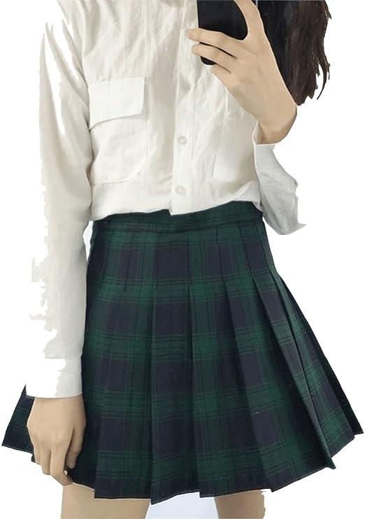 Faldas Cortas de Colegiala para Mujeres Faldas Mini Faldas (Color ...