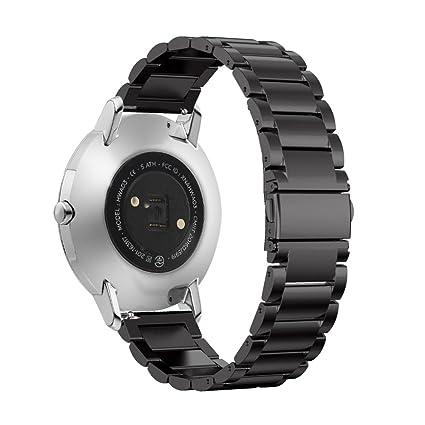 Kuxiu - Pulsera para reloj Withings Steel HR, de 36 a 40 mm, acero inoxidable, hebilla de metal magnética