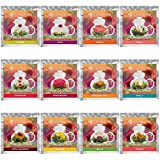 Teabloom Fruit Flowering Tea - 12 Assorted Fruit Blooming Tea Flowers Gift Set