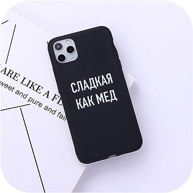 Cita rusa eslogan de la cubierta del teléfono para iPhone 11 Pro Max X XS XR Max 7 8 7Plus 8Plus 6S SE suave de silicona caramelo fundas: Amazon.es: Electrónica