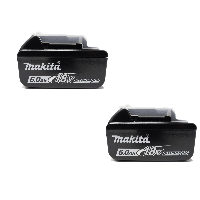 [充電工具ACセット] マキタ 18V 6.0Ah リチウムイオン電池 BL1860B 2台(マキタ純正品 A-60464日本仕様) Moldexお試し耳栓付 18V-6.0Ah 電池2台セット 電池2台セット18V-6.0Ah B07C3K2HSS