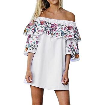 Floral Dress, Clearance Deal Women Summer Beach Off Shoulder Dress