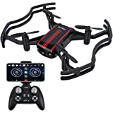 AKASO A21 Mini Quadcopter Drone Camera Live Video with 720P HD FPV WiFi RC Drone for Kids Beginners Adults - with One Key Take-Off/Landing, Optical Altitude Hold, Black