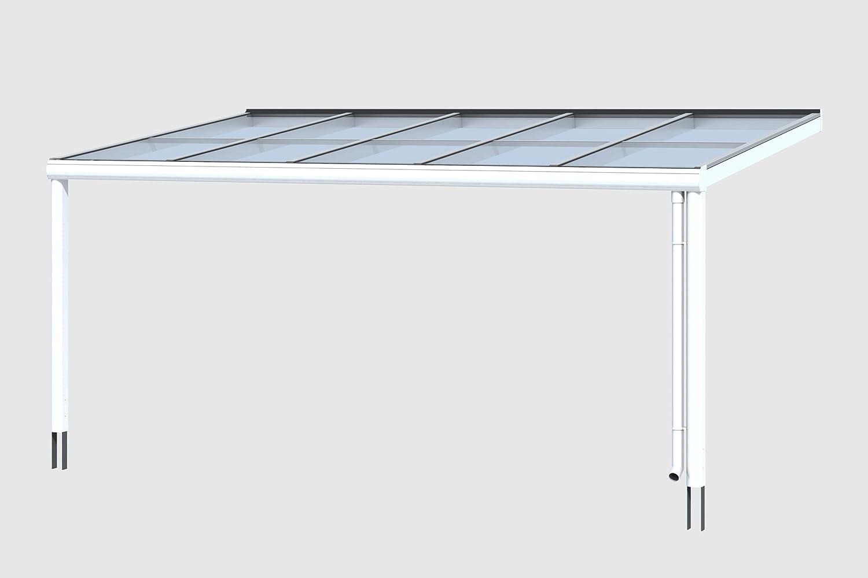 SKAN Modena - Cubierta para terraza (Madera, 541 x 307 cm, Aluminio), Color Blanco: Amazon.es: Jardín