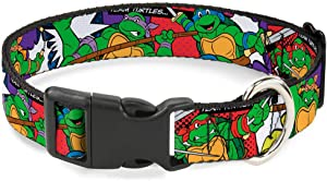 Cat Collar Breakaway Ninja Turtles Action Poses Team Turtles 8 to 12 Inches 0.5 Inch Wide