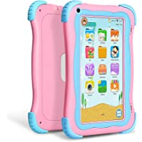Yuntab Q91 7 inch Android 5.1 Kids Edition Tablet PC with Premium Parent Control Kids Software Pre-Installed Allwinner A33 Quad-core, 1+16GB, Duanl Camera, WiFi, Bluetooch Tablet for Kids (Pink)