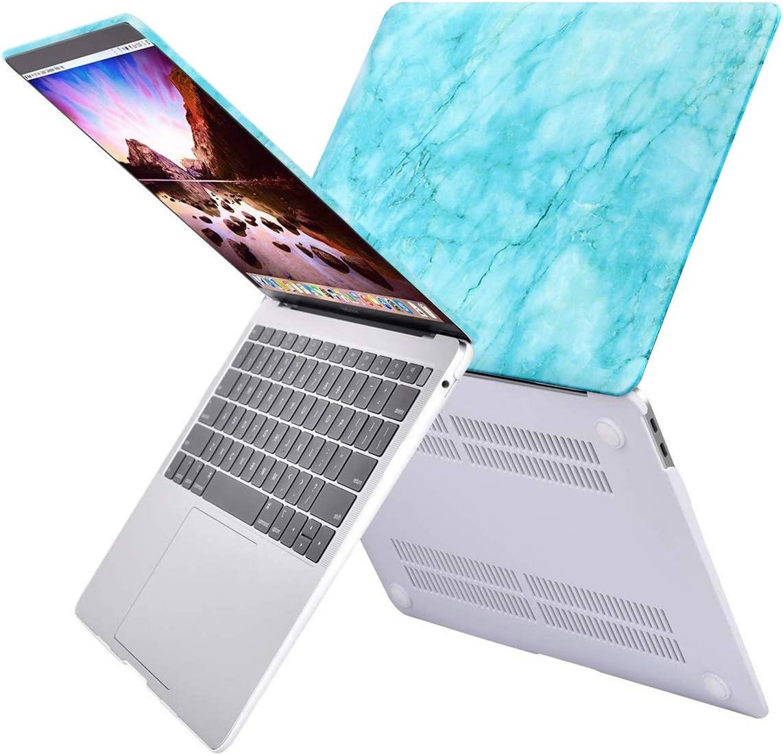 MOSISO H/ülle Kompatibel mit MacBook Air 13 2019 2018 Freisetzung A1932 Retina Plastik Hartschale Case mit Muster Nur Kompatibel mit Neu MacBook Air 13 Zoll mit Touch ID Wei/ß Marmor