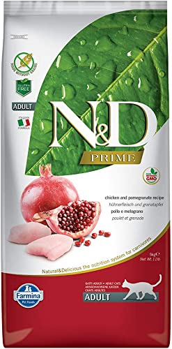 Farmina Natural Delicious Grain Free Chicken and Pomegranate Adult Cat, 11 lb bag
