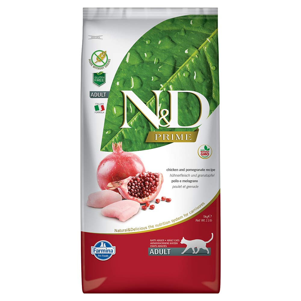 Farmina Natural & Delicious Grain Free Chicken and Pomegranate Adult Cat, 11 lb bag by Farmina