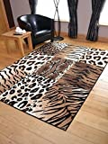 Trend Leopard Tiger Design Rug. Available in 8 Sizes (120cm x 170cm) by Rugs Supermarket