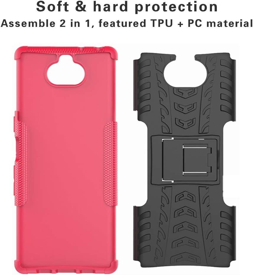 Etui Housse Coque Shockproof Robuste Impact Armure Hybride B/équille Cover pour Sony Xperia 10// Xperia XA3 4 en 1 Cadeau emball/é Labanema Xperia 10 Coque - Orange