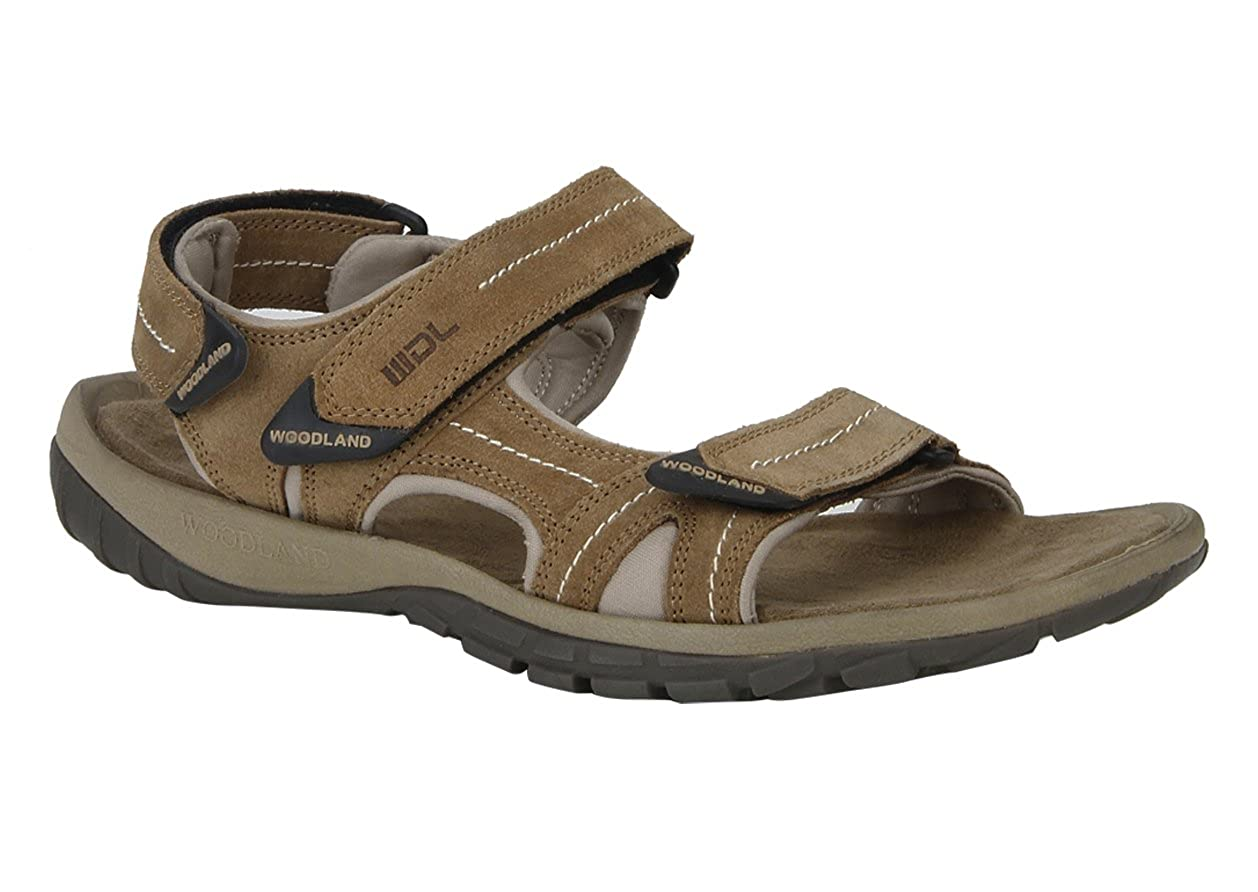 4aa0a69ac014d Woodland Men's Camel Beige Suede Leather Sandals - 41: Buy Online at Low  Prices in India - Amazon.in