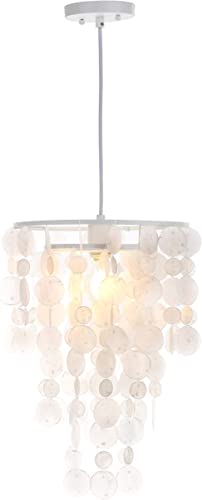 Safavieh Collection Pearl Capiz 1 Light 13″ Pendant
