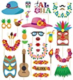 Toys : 60pcs Luau Photo Booth Props - Hawaiian/Tropical/Tiki/Summer Pool Party Decorations Supplies