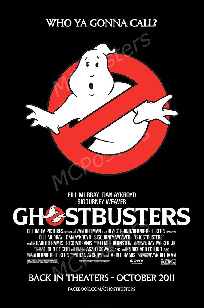 """MCPosters Ghostbusters 1984 GLOSSY FINISH Movie Poster - MCP219 (24"""" x 36"""" (61cm x 91.5cm))"""