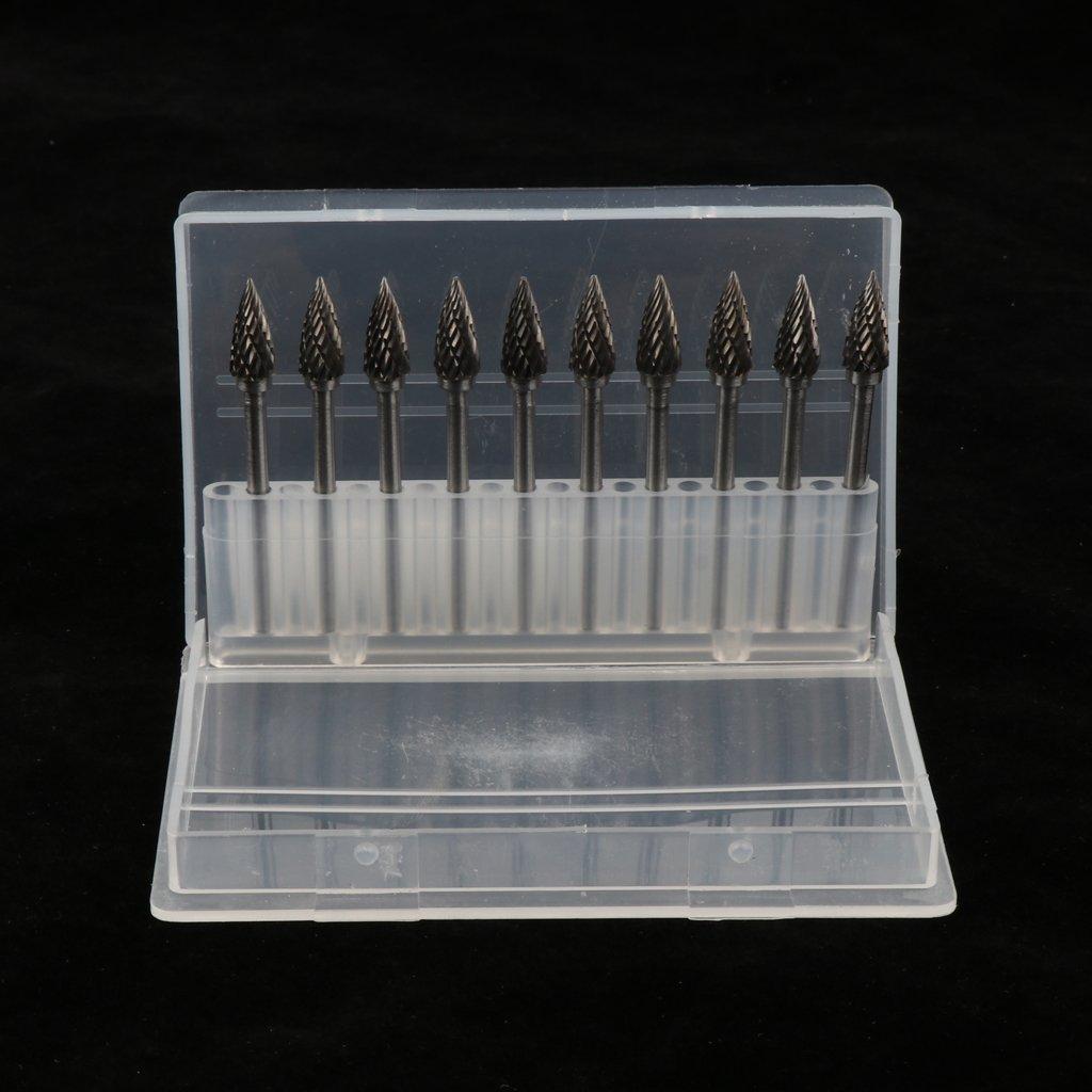 3mm // D DOLITY 10pc Fr/äser Bit Hartmetallfr/äser Fr/äseraufs/ätze 0,12 Zoll Schaftdurchmesser