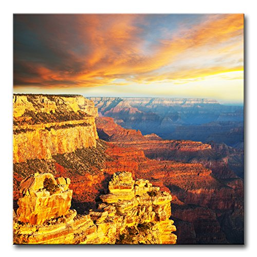 Wall Art Decor Poster Painting On Canvas Print Pictures Amazing Scenery of Grand Canyon National Park at Sunset Arizona USA Landscape Canyon Framed Picture for Home Decoration Living Room Artwork