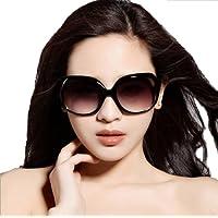 Ziory Unisex European Oversized UV400-Shining Plastic;Polycarbonate;Acrylic Fashion Classic Sunglasses (Black and Grey, 1695)