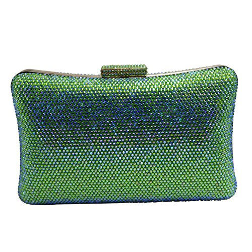 Crystal Clutch Big Size Ab DMIX Green wZTpxZqF
