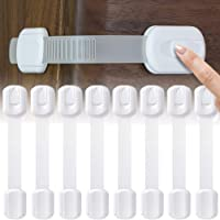 Socub Child Safety Cabinets Strap Locks, Multi Use Latch, For Cabinets, Drawers, Oven, Toilet Seat, Fridge, 8 pcs