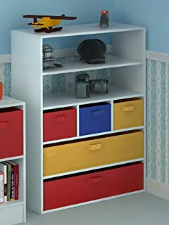 Home Source Kids Toy Storage Cabinet 5 Tiers 5 Canvas Drawers For Childrenu0027s  Bedroom
