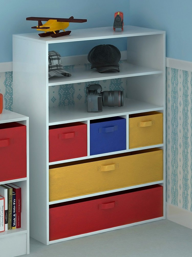 Home Source Kids Toy Storage Cabinet 5 Tiers 5 Canvas Drawers For  Childrenu0027s Bedroom: Amazon.co.uk: Kitchen U0026 Home