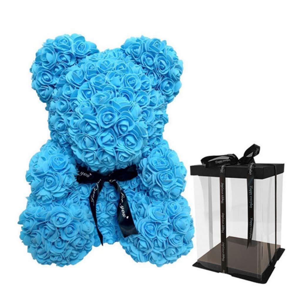 Feeyond Artificial Rose Oso De Peluche En Forma De Muñeca Regalo Romántico Aniversario De Boda Día De San Valentín Cumpleaños