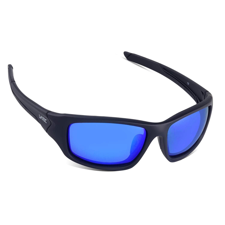 LATEC Gafas de Sol Deportivas Polarizadas Elegear livianas con Proteccion UV400 & Marco TR90 Irrompible para Hombres y Mujeres Ciclismo Correr Pesca ...