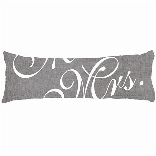 Familia decorativo almohadas gris lino Look Señor Señora ...
