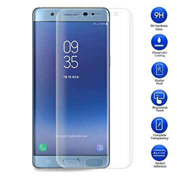 buy popular 3f393 e6c7d MaxKu Samsung Galaxy Note FE Screen Protector, 3D Glass Full Coverage 0.3mm  Premium Tempered Glass Screen Protector 9H Hardness Rating and Bubble-Free  ...