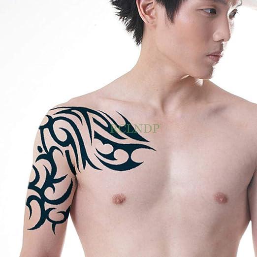 3pcs Tatuaje Impermeable Etiqueta Cruz Angel Wings Toda la Espalda ...
