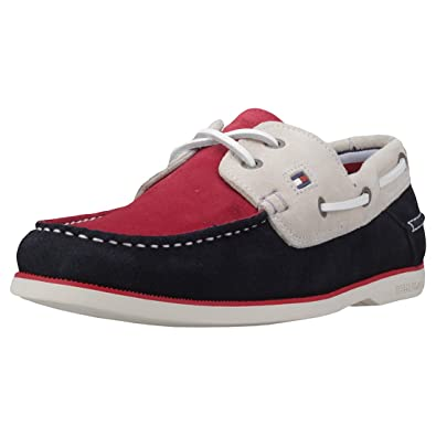 a9d6ea222 Tommy Hilfiger Classic Suede Mens Boat Shoes  Amazon.co.uk  Shoes   Bags