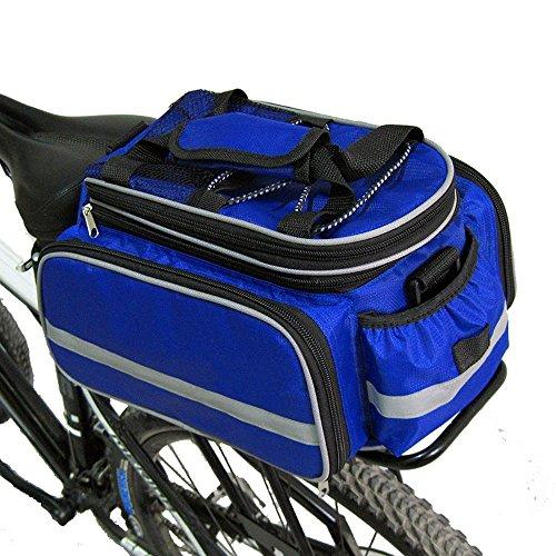 Hi8Radfahren Wasserdicht Pannier Bag Schulter Sattel Multifunktions-Bike hinten Sitz Tragekorb mit Regenmantel blau kSqExYdr