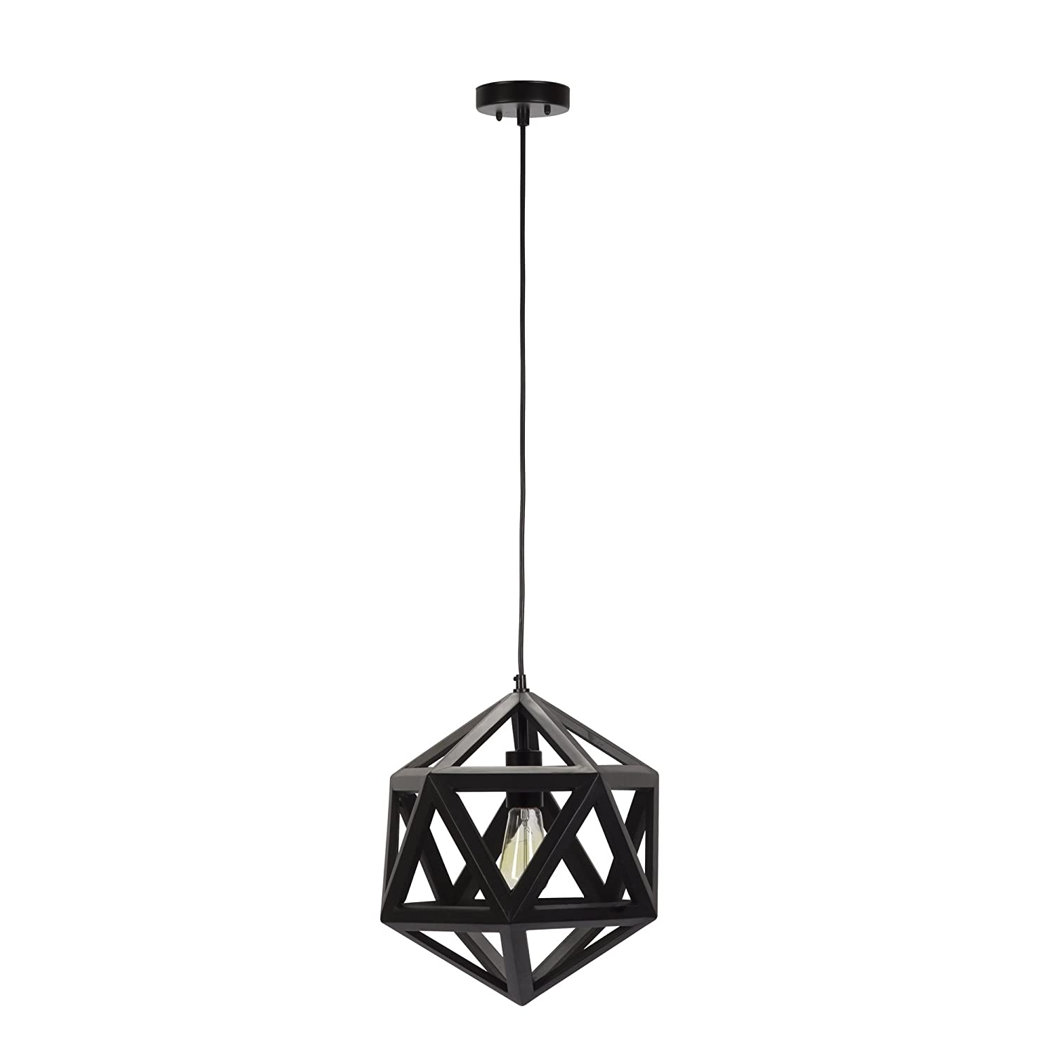 eglo black image geometric light pendant embleton large