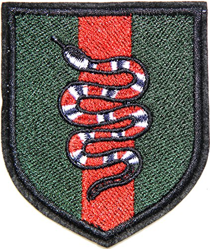 Symbol Shield Road Sign (Red Snake Shield Army Wild Animal Zoo Kid Lady Women Girl Retro Boho Love Hippie Jacket Polo T shirt Patch Sew Iron on Embroidered Badge Costume DIY Clothes Accessories)