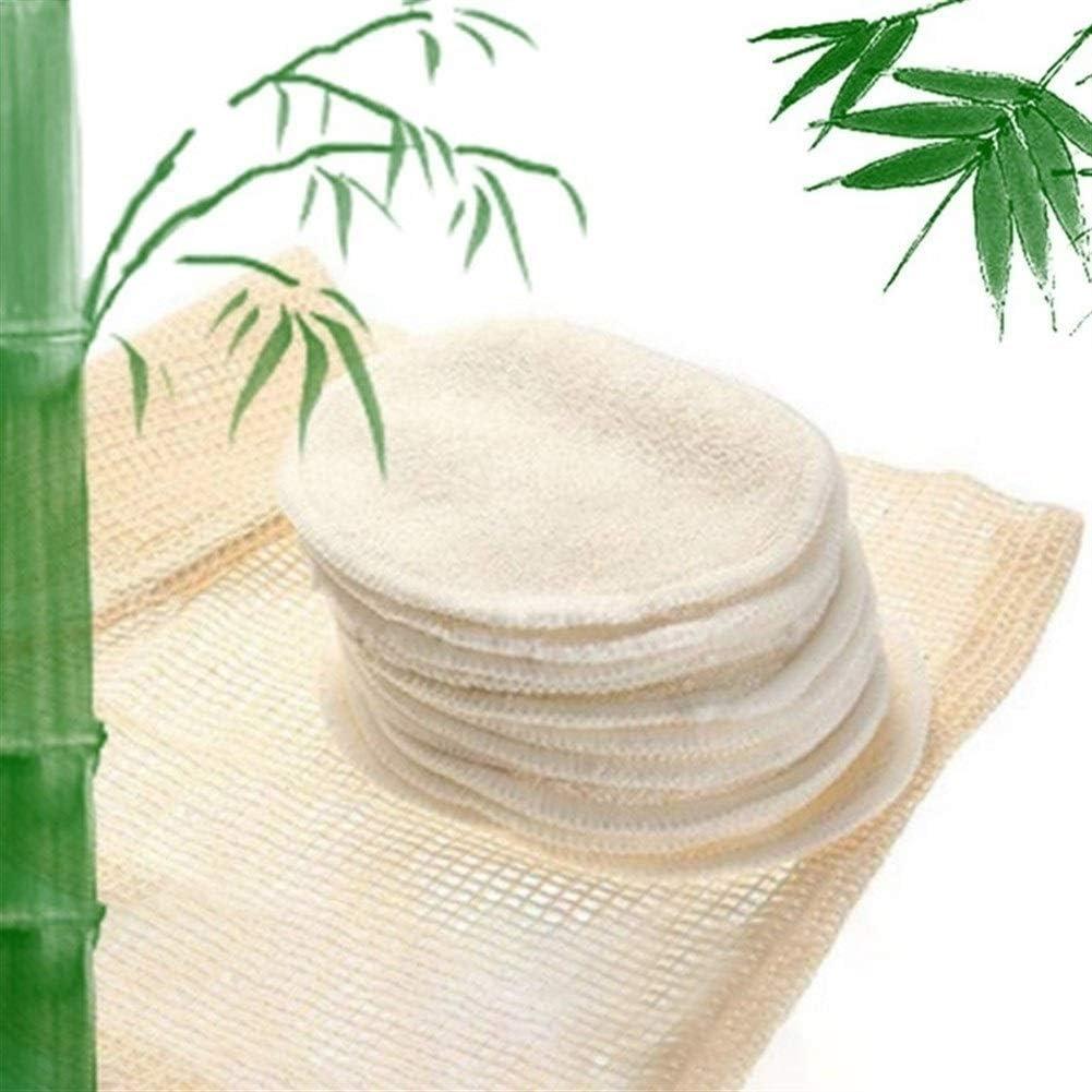 Discos desmaquillantes reutilizables 4pcs carbón de bambú ...
