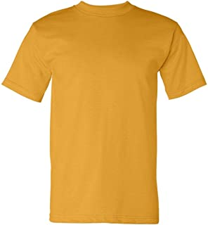 product image for Bayside Men's American Made Cotton Basic T-Shirt, Gold, Small