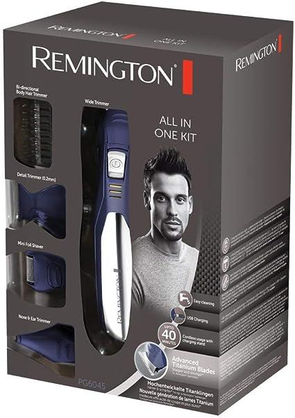 Remington PG6045 Recargable Azul, Plata cortadora de pelo y ...