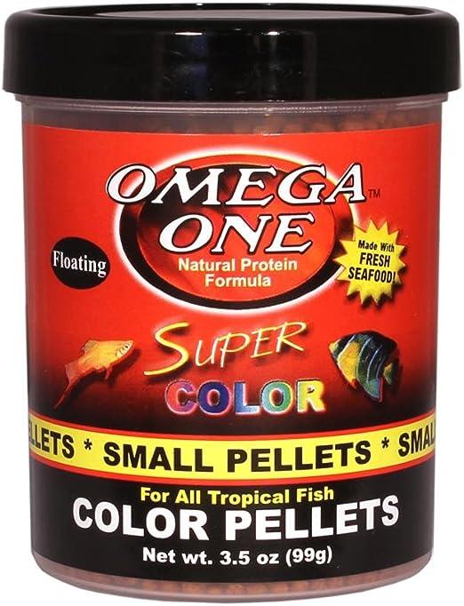 Amazon Com Omega One Floating Super Color Pellets Fish Food 3 5 Oz Pet Food Pet Supplies