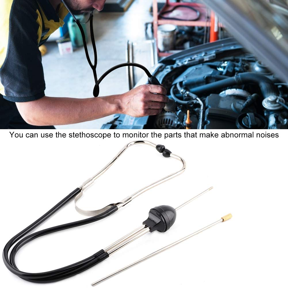 EBTOOLS Estetoscopio de cilindro de motor de coche Acero inoxidable Mec/ánica de autom/óviles Herramienta de diagn/óstico del probador de reparaci/ón de motor Herramienta de diagn/óstico de motor