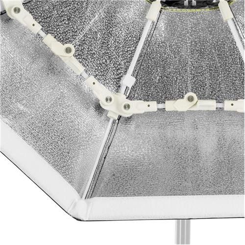 Glow Foldable Beauty Dish with Bowens Mount (Silver, 34'') by Glow (Image #3)