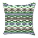 Oriental days 24X24 Burlap Pillow 2-Sided