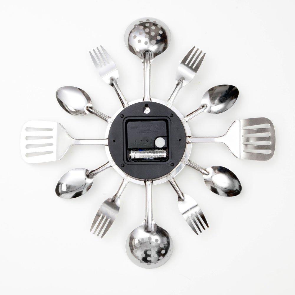 Amazon.com: Bits and Pieces - Contemporary Kitchen Utensil Clock ...