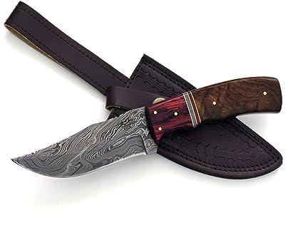 Amazon.com: Shokunin - Cuchillo de caza de acero hecho a ...