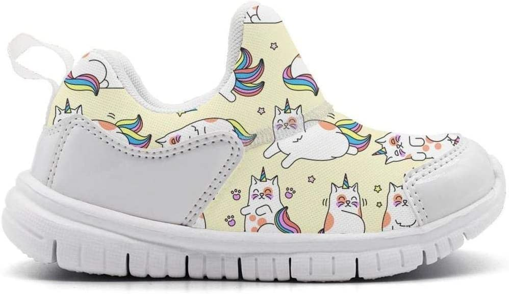 ONEYUAN Children Cat Unicorn Set Kid Casual Lightweight Sport Shoes Sneakers Running Shoes