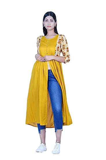 2547e346a63 Divination Women Kurti Boutique Collection Latest Fashion Designer New  Arrivals Formal Casual Office Wear Kurta for Ladies  Amazon.in  Clothing    ...
