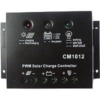 MISOL solar regulator 10A 12V solar charge controller PWM, for solar panel battery charging