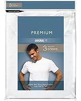 Hanes Men's 100% White Cotton Crew Neck T-Shirts X-Large 3-Pack